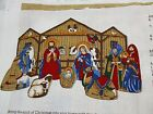 Christmas Nativity Manger Fabric Cut  Sew Panel Cranston VIP Lot of 2 Projects