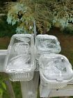 VINTAGE FEDERAL REFRIGERATOR DISHES SET OF 3 CLEAR GLASS WITH VEGETABLES ON LIDS