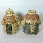 Vintage King and Queen Salt and Pepper Shakers Japan Speckled Stoneware