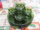 Kings Crown  Indiana Glass Snack Plates and Cups