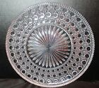 Cane Design Vintage Glass Platter 11 3/4