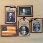 5 Handcrafted American HangTags/George Washington BowlFillers/Ornies Set*0