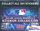 2018 Topps MLB Baseball Stickers MASSIVE Factory Sealed 50 Pack Box with 400 MIN