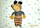 AAFA 1930s EARLY FOLK ART MICKEY MOUSE SNOUTY  BIG NOSE CLOTH DOLL 12 in.