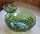 Vintage Chip and Dip Set Anchor Hocking  Green Retro