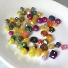 acrylic frosted beads with inlaid swarovski crystals rare vintage beads