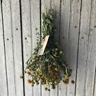 Primitive Farmhouse Natural Dried Black Eyed Susan Floral Bouquet Fall Harvest