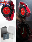Detomaso Firenze Style Chronograph Men's Quartz Watch with Red Dial Analogue...