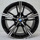 Set of 4 Wheels 18 inch GLOSS BLACK MACHINED Rims fit BMW 5 SERIES F10 2011 18