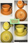 Homer Laughlin Fiesta Ware Cup 6oz and Saucer Set - Tangerine Orange Or Yellow