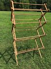 Vintage Wooden Clothes Drying Rack Approx 57