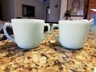 vintage fire king azure cream and sugar mint condition never used no chips