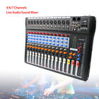 USB 12Channel Digital Studio Audio Sound Mixer Mixing Console W 48V CT 120S UPS