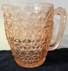 Antique Depression Glass Pink Pitcher