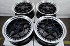 15 4x100 Black Wheels Fits Chevrolet Cobalt Spark Aveo Civic Yaris 4 Lug Rims