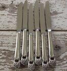 1847 ROGERS BROS ETERNALLY YOURS SILVER PLATE (6) DINNER KNIVES FLATWARE