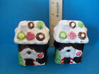 Mini Gingerbread Candy Decorated Houses Salt and Pepper Shakers A86B15