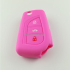 Remote Flip Silicone Rubber Key Cover Case Protect Holder Fit For Toyota Corolla