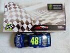 JIMMIE JOHNSON HAND SIGNED 2017 LOWES NASCAR BRISTOL RACE WIN 1 24 CAR