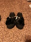 pink victoeia Secret slippers 1 pairs one black  brand New Still With Tags