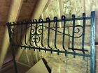 Wrought iron Window Grate/Grill, Antique, large, black, fancy, ornamental,curved