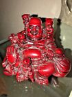 Antique Chinese Shoushan RESIN Buddha with Children Statue