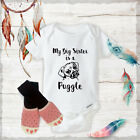 Big Sister Puggle Onesies  Pink Claw shoes Newborn Baby Shower Gift Set Gifts