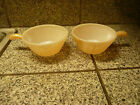 Vintage Oven Fire King Ware 12 Ounce Casserole Dish with Handle Set of 2