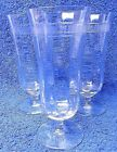 Set Of 3 Vintage (1930 -1940's) Footed Parfait Glasses Pre-Owned Great Condition