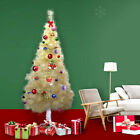 7Ft White Christmas Tree Artificial Unlit Premium Spruce Hinged Tree Holiday