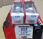 Pair of Champion CJ7Y Spark Plugs 853 For Home  Garden Small Engines