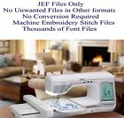 450000 JEF Only Machine Embroidery Designs on USB