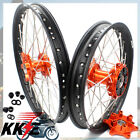 21/18 KTM 690 ENDURO R CUSH DRIVE DIRTBIKE WHEEL RIM SET FIT 2008-2019 WITH RUBB
