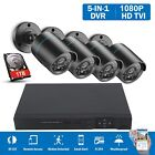 1500TVL 1080N 4CH DVR 1TB IP HD Video Home Security CCTV Camera System Outdoor