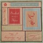 All Night Media Anna Griffin Sealed With A Kiss 8 Wood Mounted Rubber Stamps Tag