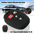 4 Button Silicone Car Key Cover Case Holder Fob Remote For Toyota Corolla Camry