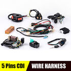 50cc 125cc 5 Pins CDI Wire Harness FOR Chinese Electric start Quad STATOR Wiring