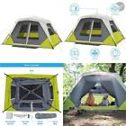 Instant Cabin Tent For 6 Person with Awning Ain Fly Tent Stakes