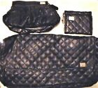 ALPINE STARS BAGS & WALLETS BLACK HANDBAG  WALLETT & PURSE SET