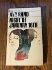 THE NIGHT OF JANUARY 16th by Ayn Rand vintage paperback PHILOSOPHICAL PLAY