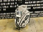 """NEW Professional PING GOLF i3+ ISI TEC STAFF BAG 9.5"""" WHITE 6-Way DISPLAY TAGS"""