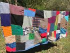 Antique Primitive PATCHWORK QUILT Amish Unique Paisley Patches HANDMADE 67/54