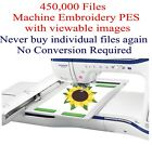 450000 PES ONLY Machine Embroidery Designs on USB includes Viewing Images