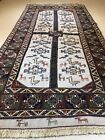 Turkish Rug Handmade Home Decor Beige Brown Color Geometric Size 3'5