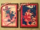 5 Wooden Handcrafted Victorian Valentine Day HangTags/Ornaments/GiftTagsSET.5