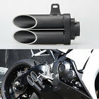 Aluminum Motor Dual Outlet Muffler Exhaust Tail Pipe Slip-on DB Killer Exquisite