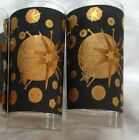 Vint  60s Tall Glasses Mid Century Modern 2pieces Stars Starlyte*