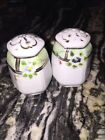 lovely set of old hand painted salt and pepper shakers