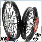 KKE MX CASTING WHEELS RIM SET FIT KTM 21/19 SX SXF 125 250 450 525 03-19 ORANGE