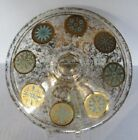 gold ATOMIC MEDALLIONS ~ MCM Casserole Lid